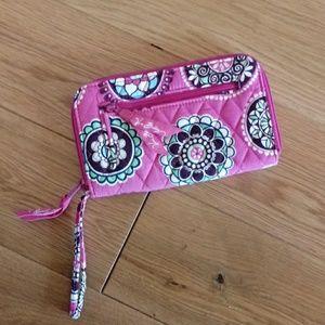 Vera Bradley Large Wristlet Zip Wallet